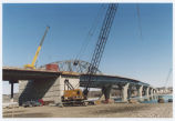 New Liberty Memorial Bridge under construction, Mandan N.D.