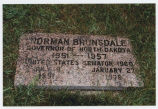 C. Norman Brunsdale cemetery marker, Mayville, N.D.