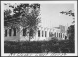 Construction of Sheridan County Courthouse, McClusky, N.D.