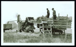 Threshing at Orris Nordhaugen farm, Leeds, N.D.