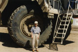 Susan Wefald with mining equipment