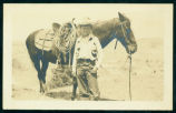 Boy and horse, Theodore Roosevelt National Park, N.D.