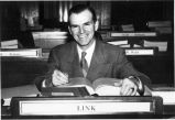 Arthur A. Link in the North Dakota House of Representatives, Bismarck, N.D.