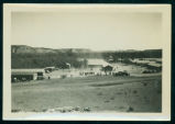 Building a new camp building, Civilian Conservation Corps camp near Medora, N.D.