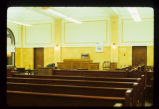 Adams County Courthouse, courtroom interior view, Hettinger N.D.