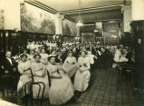 Party in dining room, Hotel McKenzie, Bismarck, N.D.
