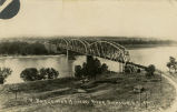 Railroad bridge over Missouri River, Bismarck, N.D.