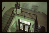 Interior lobby staircase, Burke County Courthouse, Bowbells, N.D.