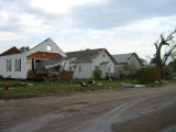 Tornado damage to residential area, Northwood, N.D.