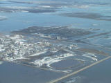 Aerial view of flooding, Hamilton, N.D.