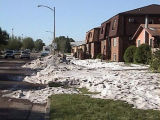 Aftermath of hailstorm, Bismarck, N.D.
