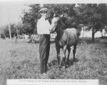 T.H.H. Thoresen on the Thoresen Stock Farm near Dalton, Minn.