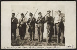Six men with shotguns camping on Reverend Balenebergs homestead