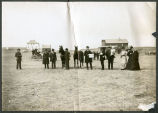 Citizens waiting for the stage and the mail, Mott, N.D.