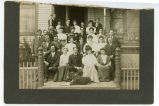 Group of people on porch, N.D.
