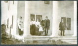 Group of people on porch, Hettinger County, N.D.