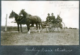 Men hunting prairie chickens, Hettinger County, N.D.