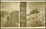 Views on Northern Pacific Railroad during snow blockade, Mandan, N.D.