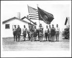 American Legion honor guard, Elbowoods, N.D.