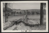 Diverting water from the Missouri River using flume and pipeline, R.H. Leroy farm, Mandan, N.D.