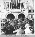 Theodore Roosevelt speaking at North Dakota State Capitol