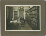 Judge A.G. Burr and secretary,  Pierce County Courthouse, Rugby, N.D.