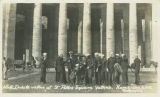 U.S.S. North Dakota sailors at St. Peter's Square, Vatican, Rome, Italy