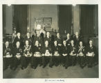 Group portrait Golden Jubilee Convocation, Grand Chapter Royal Arch Masons of North Dakota, Fargo,...