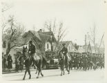 Soldiers from Fort Lincoln in parade, Bismarck, N.D.