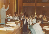 Frank A. Wenstrom presiding over the North Dakota Silver Haired Legislature, Bismarck, N.D.