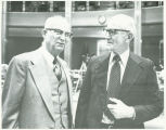 Oscar Solberg and Frank A. Wenstrom on opening day of legislative session, Bismarck, N.D.
