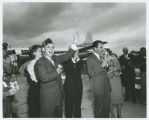 Governor John Davis, Richard Nixon and others campaigning in Williston, N.D.