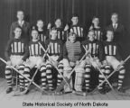 Bismarck High School hockey team group portrait
