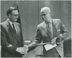 Governor William Guy presenting gavel to Constitutional Convention President Frank A. Wenstrom, Bismarck,