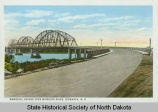 Memorial Bridge over Missouri River, Bismarck, N.D.