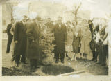 Governor Walter Welford at tree planting ceremony, Williston, N.D.