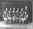 Bismarck Indian School girls basketball team