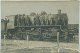 Engineers on locomotive, Nevers, France
