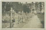 American soldiers' graves at main French cemetery, Nevers, France