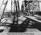Car wreck on Liberty Memorial Bridge, Bismarck, N.D.