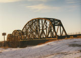 Burlington-Northern railroad bridge, Bismarck, Burleigh County, N.D.