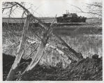Early construction of the McClusky Canal through Audubon National Wildlife Refuge