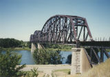 Burlington-Northern bridge over Missouri River, Bismarck, Burleigh County, N.D.