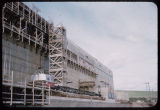 Construction of concrete wall, Garrison Dam