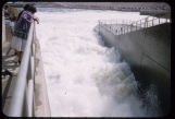 Women at top of spillway, Garrison Dam