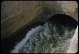 Garrison Dam tunnel with water