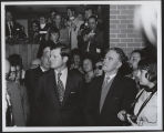 Ted Kennedy and Quentin Burdick at dedication of Kennedy Memorial Center, Bismarck, N.D.