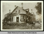 George Custer's house being dismantled, Fort Abraham Lincoln