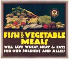 Fish and vegetable meals poster