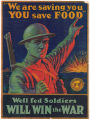 We are saving you, you save food poster